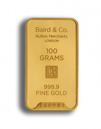 Baird gold investment bar 100 grams buy online
