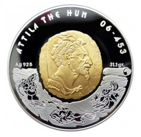 Buy 2009 Attila the Hun 100 Tenge proof silver coin online
