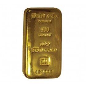 500 gram Gold Cast Bar, 99.99% Purity