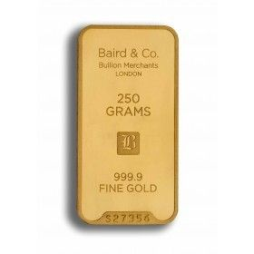 Gold Minted Bar - 250 grams, 99.99% Purity