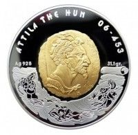 Buy 2009 Attila the Hun 100 Tenge proof silver coin online