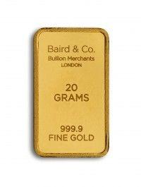 Baird gold investment bar 20 grams buy online