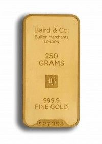 Baird gold investment bar 250 grams buy online
