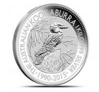 1 kilo silver kookaburra 2015 coin