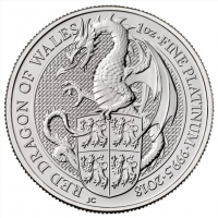 Buy 1oz Queen's Beasts Red Dragon Platinum coin | Indigo